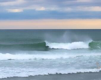 Point Judith Waves ~ Narragansett, Rhode Island, Artwork, Coastal Decor, Nautical, Beach Photography, Joules, Wall Art, Interior Decor, Art