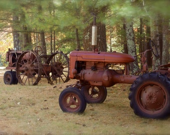 Country Ride ~ Foster, Rhode Island, Vintage, Tractors, Autumn Photography, Farm, New England, Photograph, Artwork, Wall Art, Country Decor
