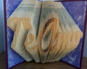 Te Amo - Folded Book Art - Fully Customizable, spanish, i love you, love