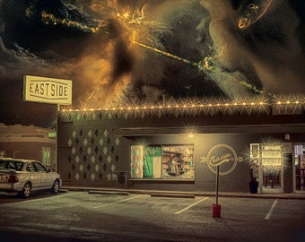 The East Side of Eternity - Limited Edition Canvas Print - Denton Texas Eastside Drafthouse