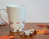 Fox Mug Fall Mug Autumn Mug Animal Lover Mug Woodland Creature Mug