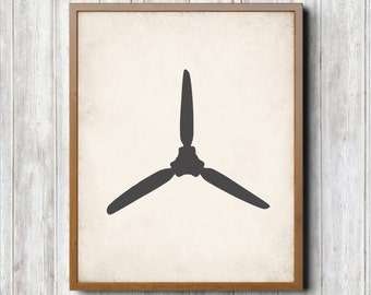 Airplane Propeller Printable 8 x 10