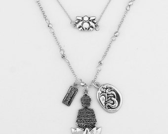 Tiered Meditation Pendant Necklace