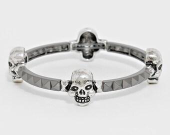 Vintage Skull Stretch Bracelet
