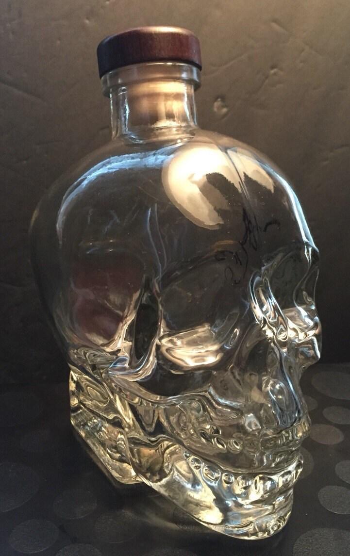 SKULL BOTTLE Crystal Head Vodka Skull Decanter & 2 by ADORNchicago