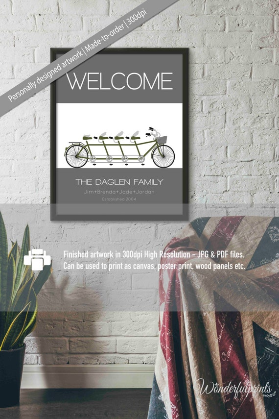 Welcome to our home welcome home print family home decor for Welcome home decorations