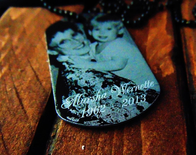 Memorial Dog Tag -  Handwriting Option - Personalized Text on Back - Remembrance Gift - Gift for Dad