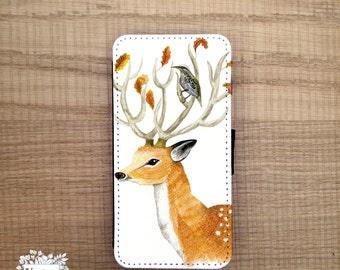 Deer Samsung Galaxy S6 wallet case, galaxy s6 edge wallet case, S6 edge, Xperia Z1 compact wallet case, flip case, Samsung S8
