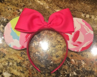 Lilly Pulitzer Inspired Disney Mickey & Minnie Mouse Ears