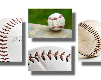 0030 SET OF FOUR Photographs,Baseball Boys Room Decor,Sports Decor,Boys Room Art,Boys Room Gift Ideas,Fine Art Photography,ericksonphoto