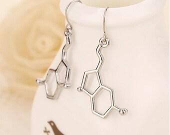 Earrings molecule dopamine