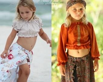 Gypsy Top PDF Sewing Pattern ... Sizes 6m-14yrs