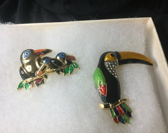 Set of Bird Brooches