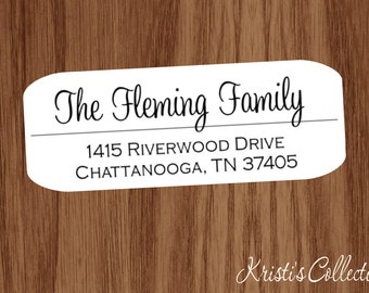 Family Return Address Labels Stickers - Custom Personalized Family Return Address Shipping Mailing Labels - Personalized Gifts