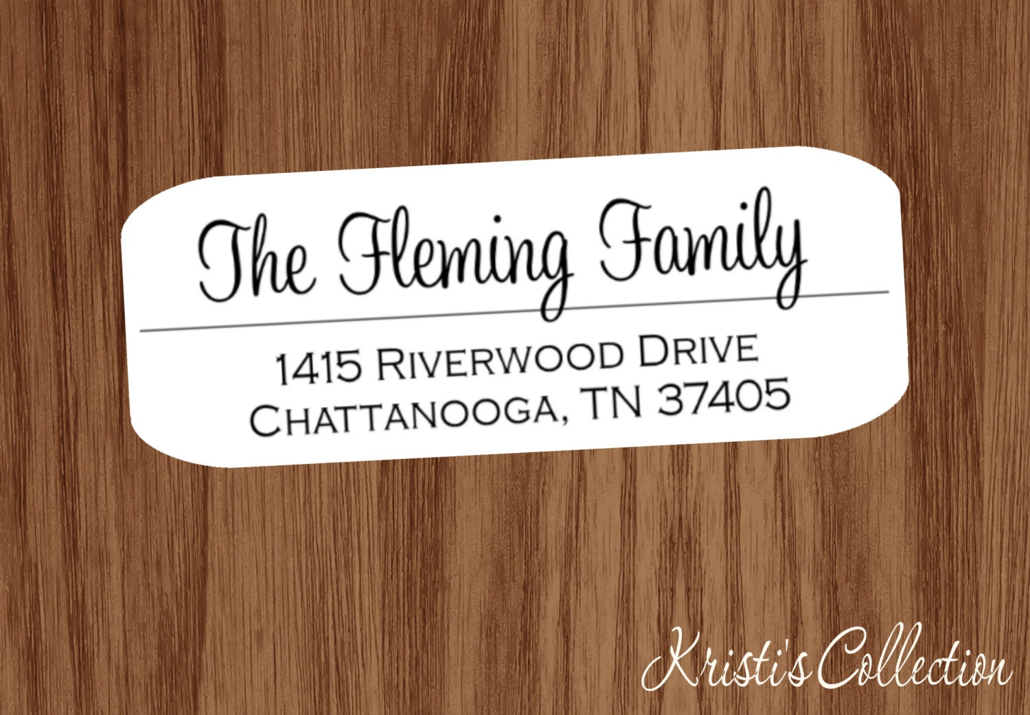 family return address labels stickers