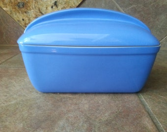 Vintage Hall Westinghouse Periwinkle Blue Refrigerator, Oven Baking Dish, Loaf Pan,  Made in USA, Gorgeous Color, Excellent Condition