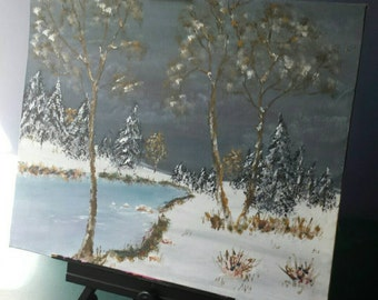 Winter Landscape Painting by Kimberly