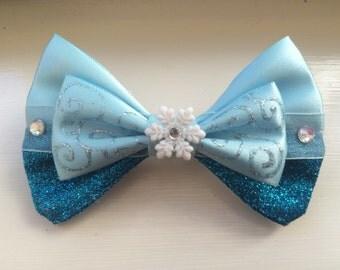 Elsa Inspired Hair Bow