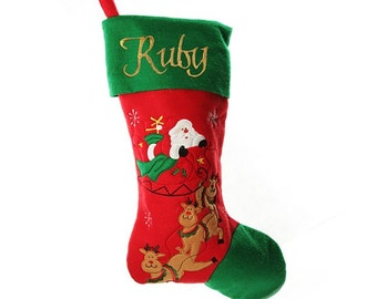 Personalised Jumbo Felt Christmas Stocking