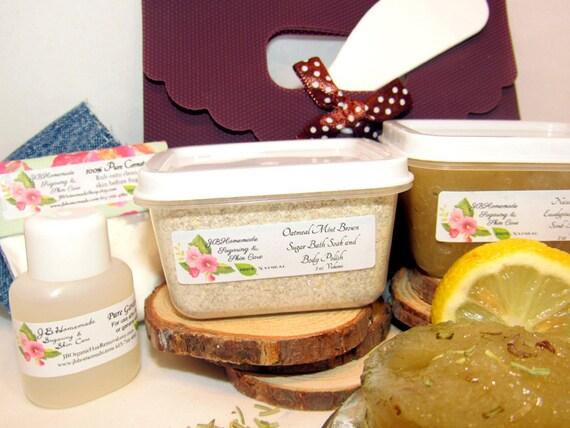 Natural Eucalyptus Rosemary Scrub Sugaring Wax Deluxe Starter Kit