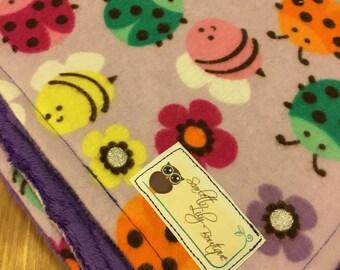 Ladybug and Bumblebee Baby Blanket