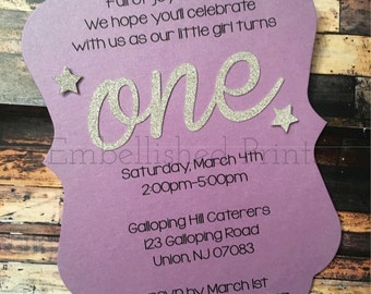 Die Cut Sparkle Birthday Invitation