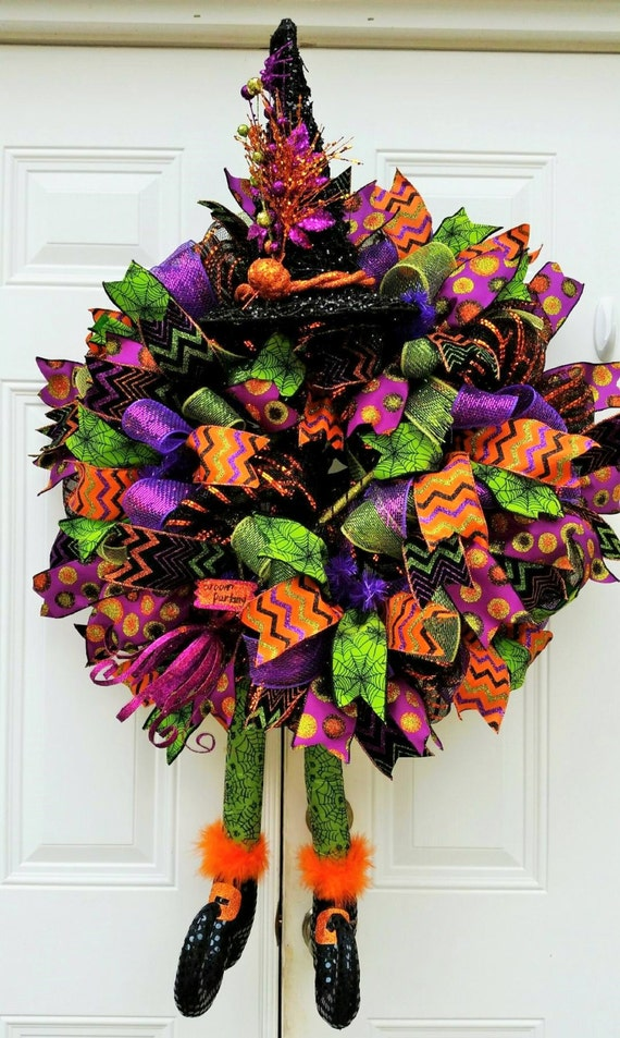 Made to order halloween witch by studiowhimsybybabs on etsy for Best place to buy wreaths