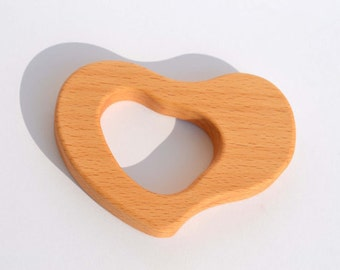 Wooden Teether - Natural Baby Toy - Eco Friendly Wood Toy - Wooden Teething Toy