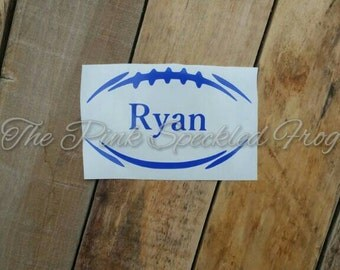 Football vinyl decal personalized football decal yeti cup decal