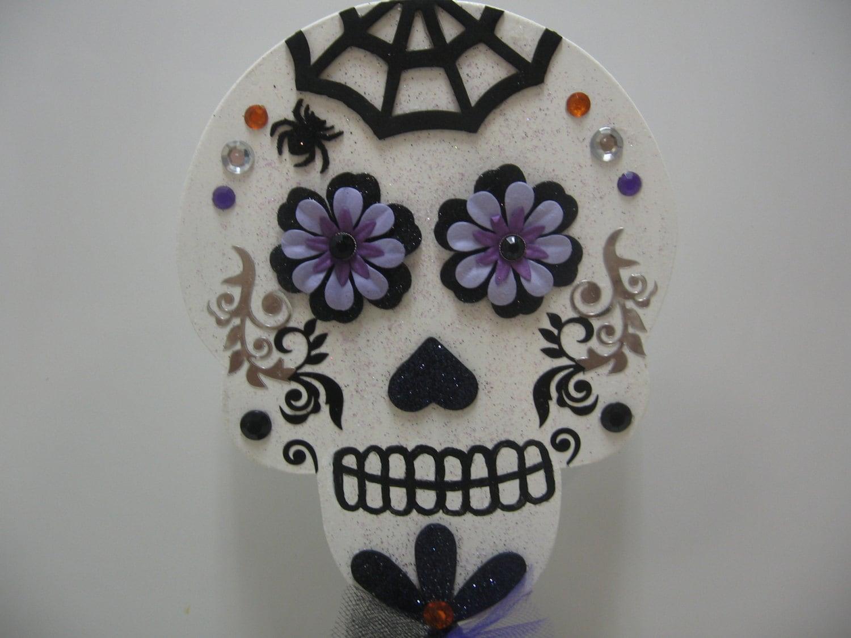 Halloween Decor-Sugar Skull Decor-Halloween Shelf Sitter