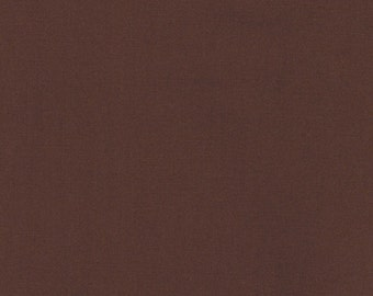 Mocha Brown Kona Solid Cotton Quilting Fabric by the Yard - Robert Kaufman Fabric - listing is for 1 Yard - DP