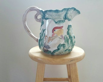 Beautiful Vintage Fitz and Floyd Pitcher