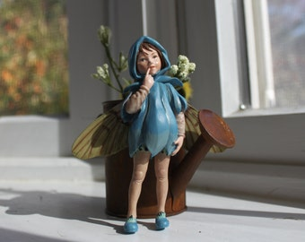 Fairy~ Scilla Fairy with Rusted Watering Can by Olive ~ Fairy Garden, Fairy, Fae, Faery