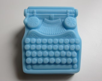 homemade scented glycerin soap, miniature, typewriter