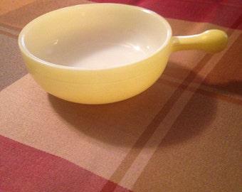 Yellow Glasbake dish