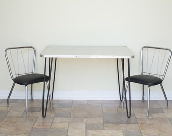 Free Shipping Via Greyhound   Vintage Kids Table Set With Hairpin Legs    Mid Century Modern