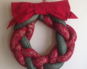 Braided Christmas Wreath