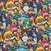 Super Mario Fabric Brothers Packed Characters Boy Girl 100% Cotton Quilting Apparel Fabric BTY By the Yard, Half, Fat Quarter t/h
