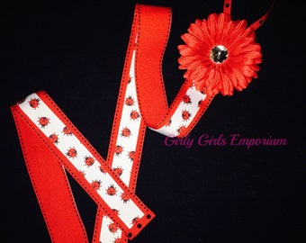 Red Lady Bug Bow Holder