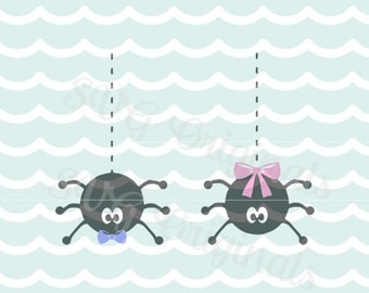 Halloween Spiders halloween SVG Spider Couple Spider Love Halloween Cricut Explore and more! So Cute!