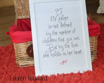 Mother's Day card for those who have lost a child. Baby loss, miscarriage.
