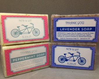 50 Wedding Favor Organic Soaps - Guest Bar Size - Great for Weddings, Bridal Showers, Anniversaries