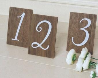 Wedding Table Numbers, Rustic Wooden Wedding Signs, Wooden Table Numbers, Wedding Decor. Boho Wedding.