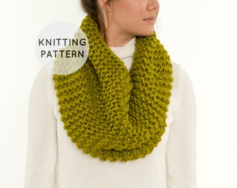 Knitting Patterns For Beginners Infinity Scarf : Items similar to KNITTING PATTERN for chunky knit cream leg warmers for chair...
