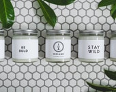 COMBO 3 PACK: Hand Poured Scented All Natural Encouraging and Affirmation Soy Wax Candles, 7.5oz