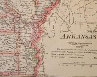 1919 Arkansas Antique Map