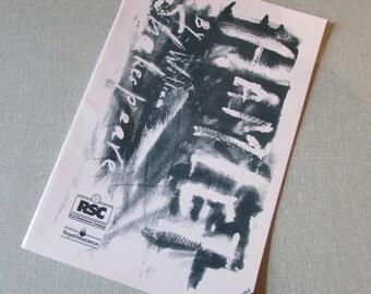 1989 Hamlet souvenir programme, Royal Shakespeare Company