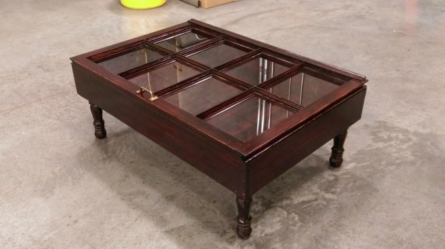 Wood Shadow Box Coffee Table Mahogany Shadow By Sandjbargainvault