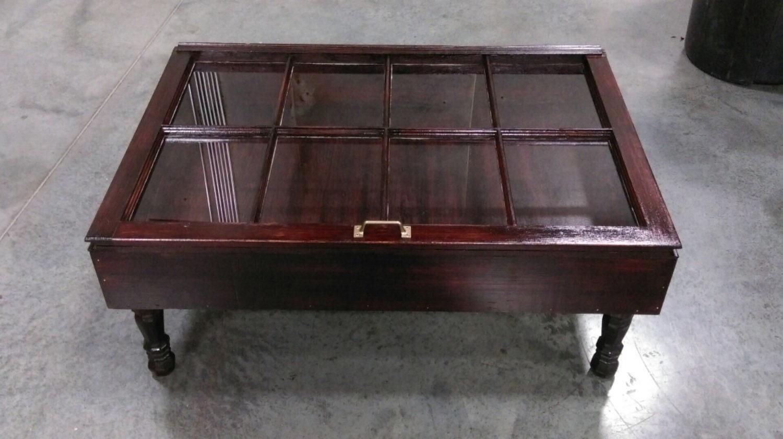 Distressed Wood Shadow Box Coffee Table By Sandjbargainvault
