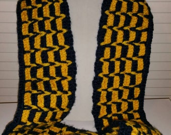 """Scarf Hat set """"Team Spirit"""" Adult size in your choice of color/colors"""